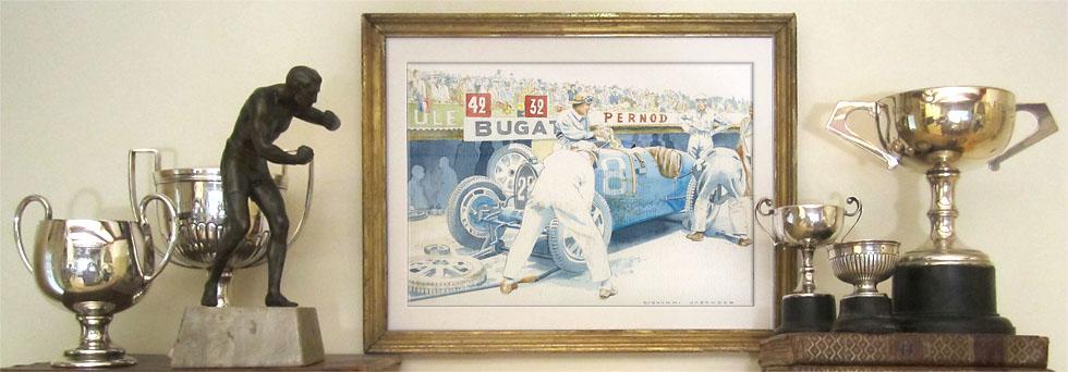 Bugatti type 35 - Mille Miglia Art.com