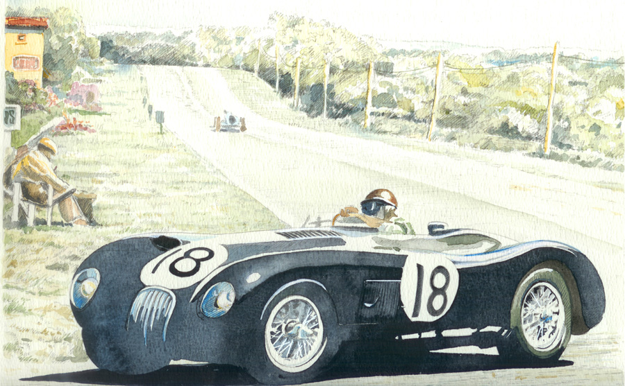 Car-Jaguar-C-type -winner-at-Le-Mans-Mille-Miglia-Giovanni Casander_full